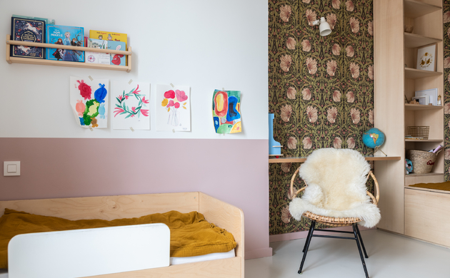 New Children's Bedrooms: A Contrast <br>Between Colours and Materials