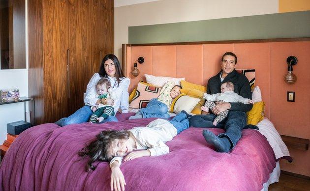 Ornella et Samuel Abouaf, <br>Lenny 8, Roman 7 ans, <br> Abbie, Andréa 8 mois