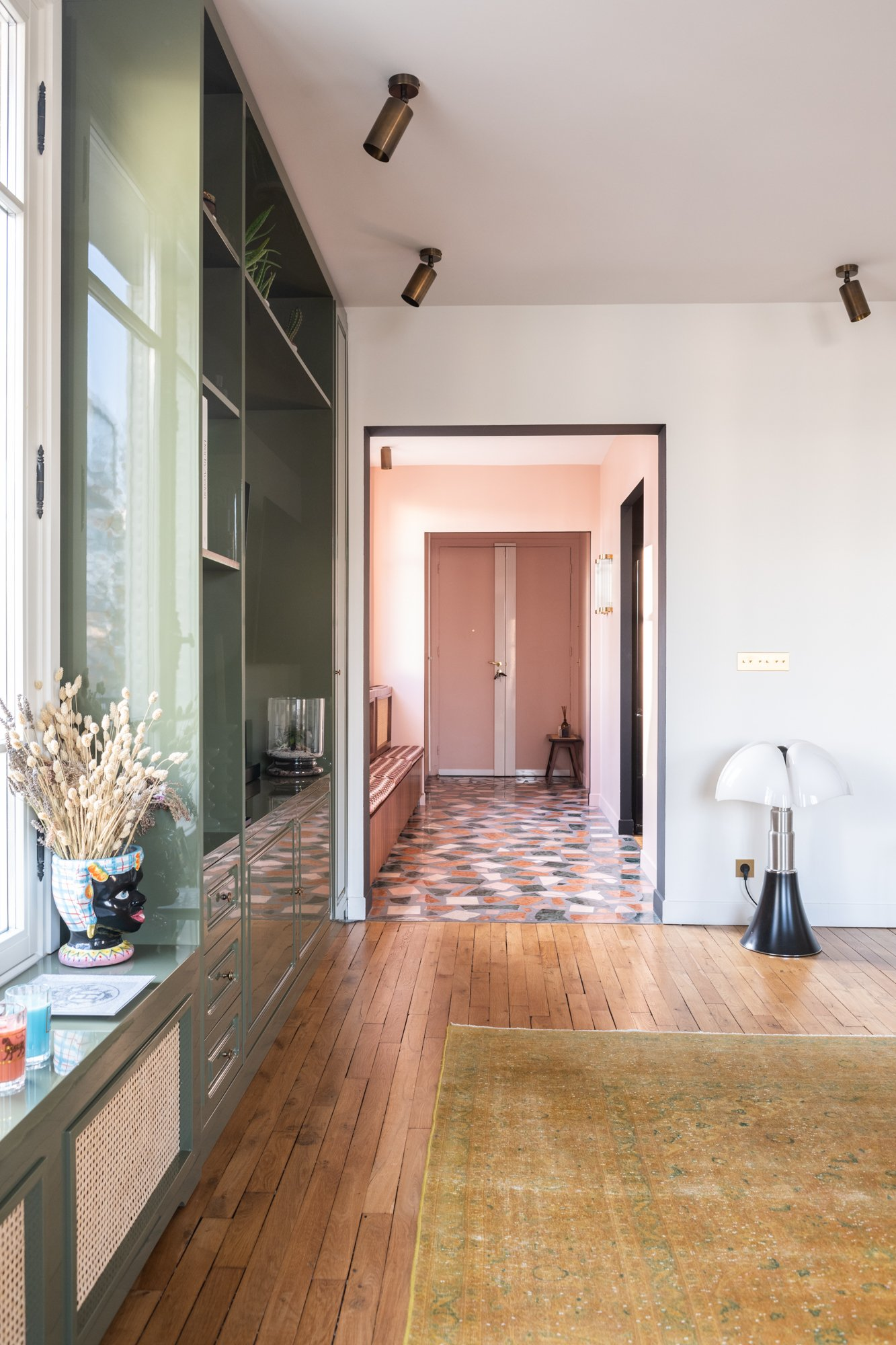 Entrée Salon Appartement Neuilly-sur-Seine Ornella Abouaf