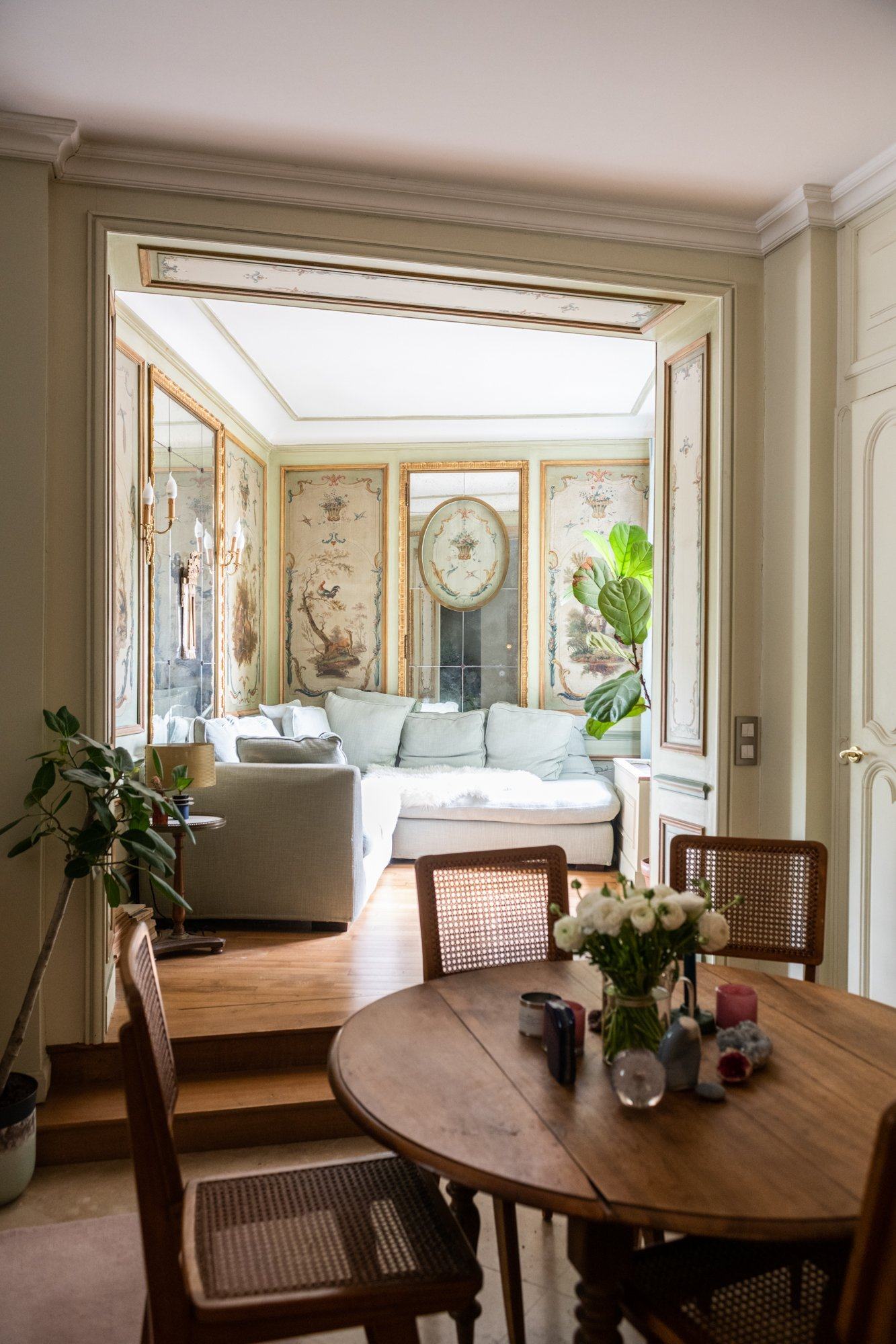 Salle à manger Salon Maison Paris Butte Montmartre Stéphanie Delpon