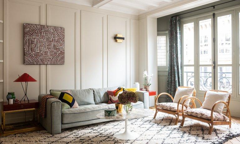Salon Architecte intérieur A&D Vanessa Faivre Appartement Paris