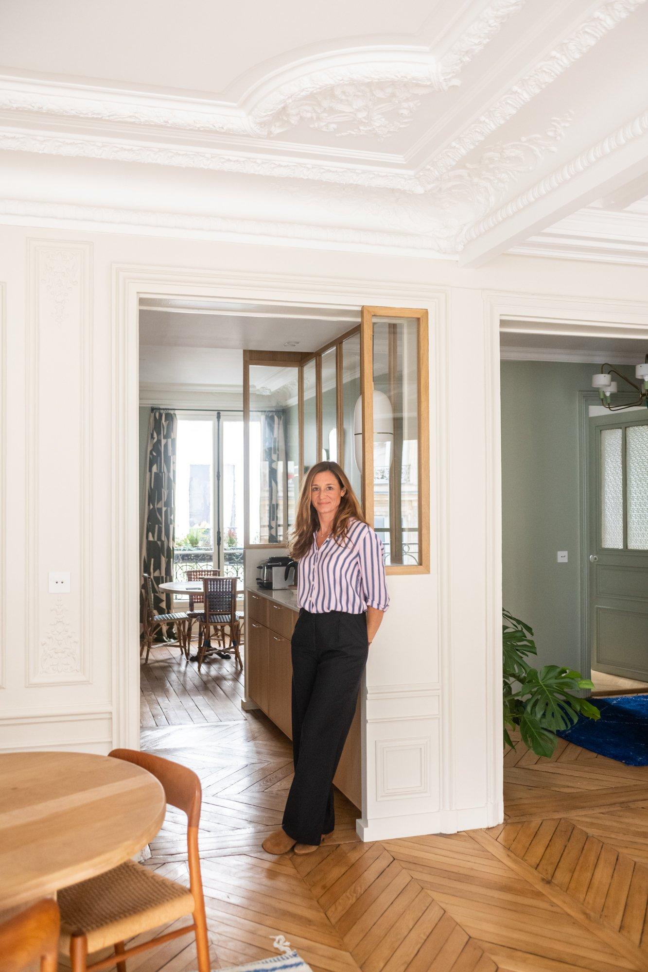 Portrait Architecte intérieur A&D Vanessa Faivre Appartement Paris