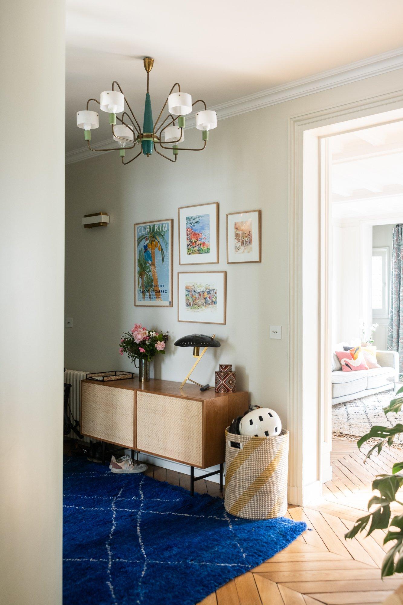 Entrée Architecte intérieur A&D Vanessa Faivre Appartement Paris
