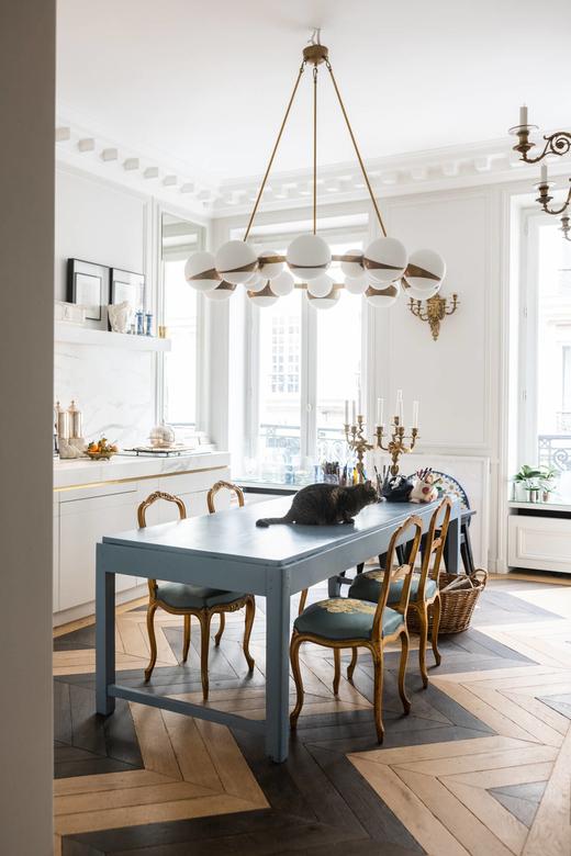 Salle à manger Appartement Paris Designer Alexis Mabille