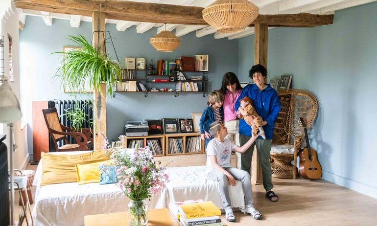 Alice Roca et Lital, <br>Ange-Lino 11, Aliocha 5 ans, <br>Simona 2 mois
