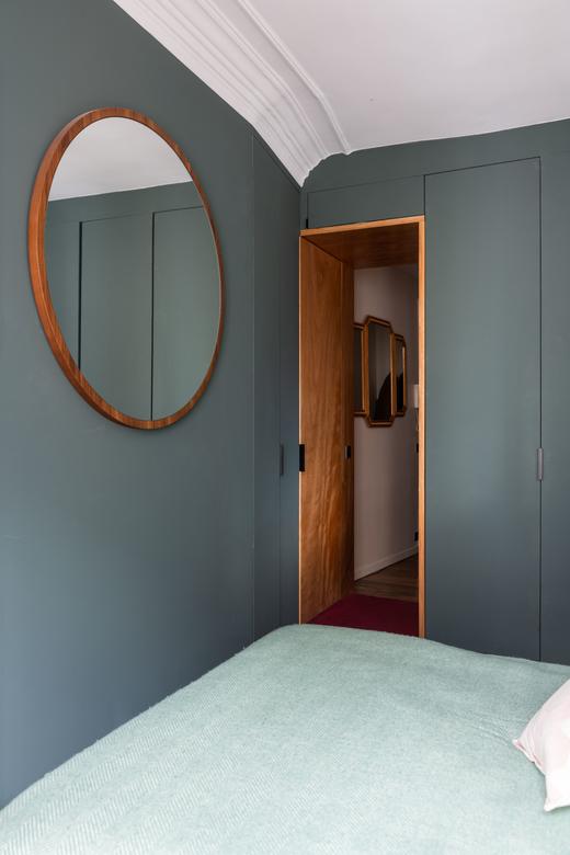 Chambre Appartement Paris Pauline Blanc et Gaultier Rimbault-Joffard