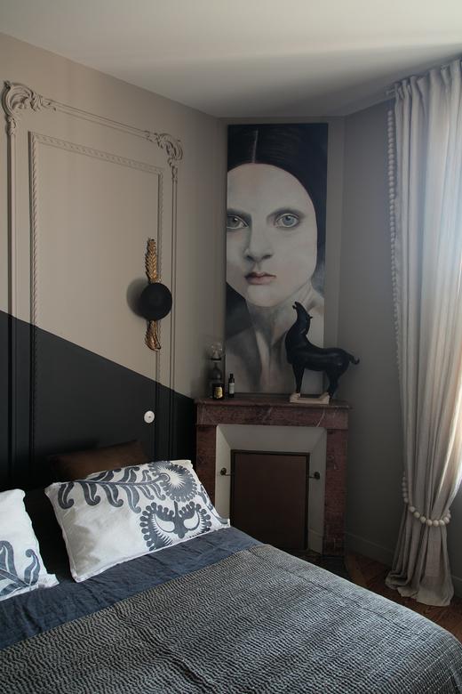 Chambre Maison Bordeaux Karine Pelloquin et Frédéric Aguiard Fondateurs Coutume {Studio}