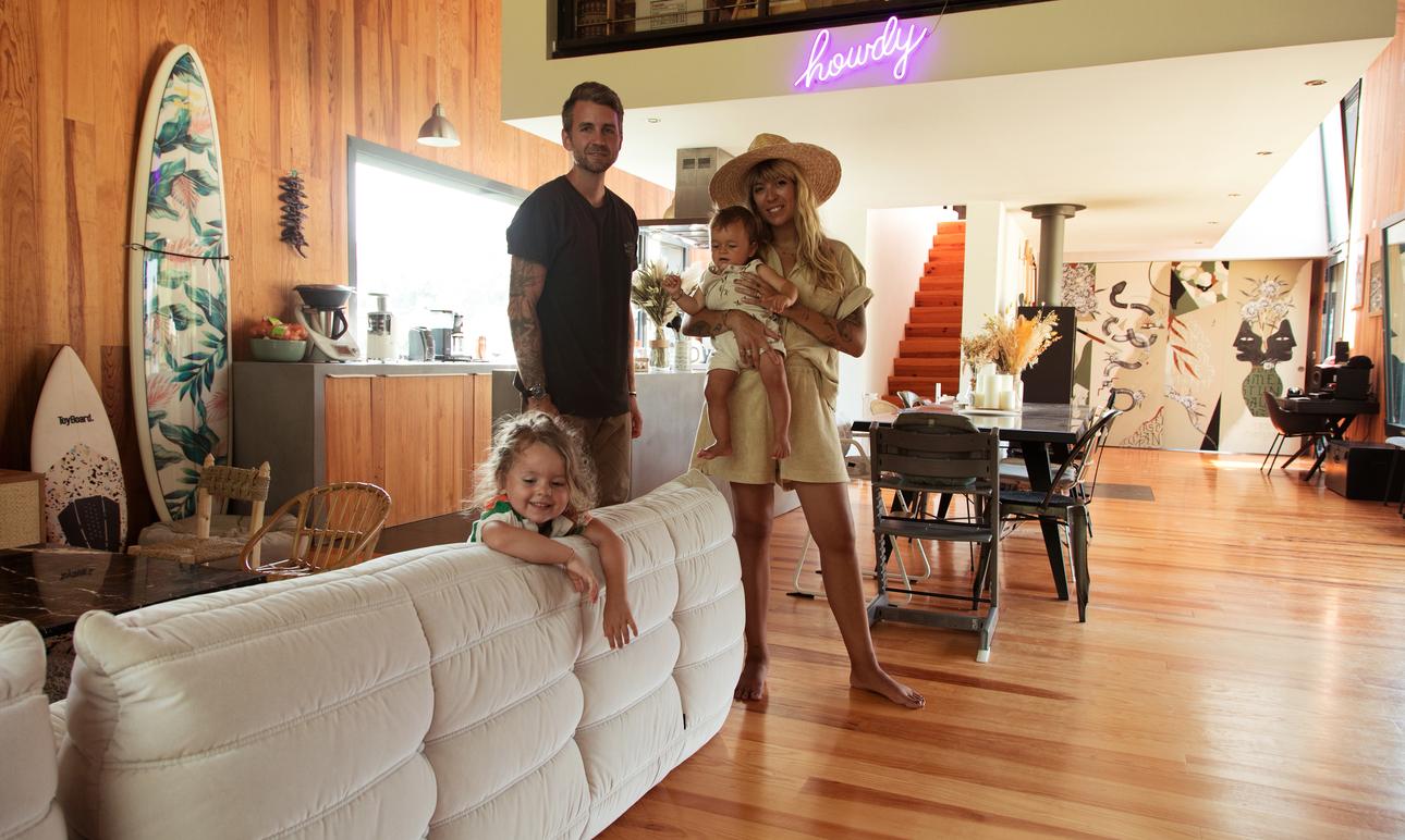 Marion et Guillaume Gruber, <br>Romy 3 ans, James 1 an