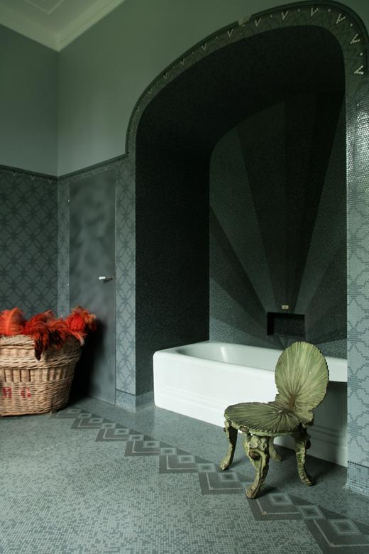 Villa Magnan Salle de bain Mosaïque Sculpture Biarritz