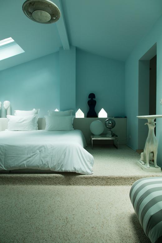 Villa Magnan Chambre à coucher bleue Biarritz