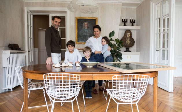 Emane de Malleray et Vincent Viard, <br>Otto 7, Hyacinthe 4, Paul 3 ans