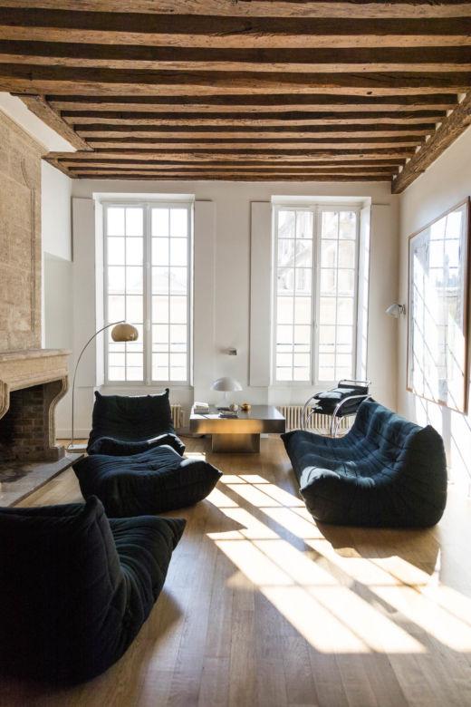 Salon Appartement Paris Marais Fanny et David Millet