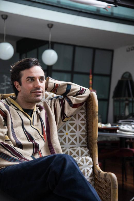 Portrait de Guido Taroni chez lui à Milan