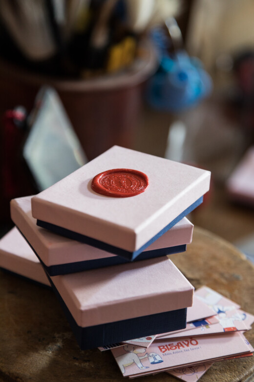 Paquets cadeaux Bisavo chez Brune de la Guerrande à Lisbonne